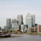 London skyline, inclouding skyscrapers Royalty Free Stock Photo