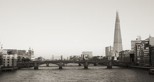 London skyline, include Blackfriars Bridge, The Shard. Stock Photo