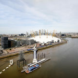 London skyline, include O2 Arena,  skyscrapers in the background Stock Images