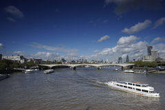 London skyline, include Waterloo Bridge royalty free stock photo