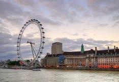 London Skyline landscape with Big Ben, Palace of Westminster, London Eye, Westminster Bridge, River Thames, London, England, UK Royalty Free Stock Photography