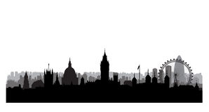 London skyline. London cityscape with famous landmarks and build Stock Photography