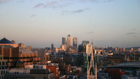 London Skyline looking to Canary Warf Stock Photography