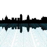 London-Skyline mit Perspektive lizenzfreie abbildung