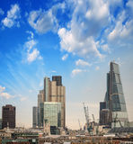 London skyline. Modern buildings on the southern side of river T Royalty Free Stock Photos