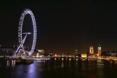 London-Skyline nachts Lizenzfreie Stockfotografie