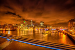London skyline at night Royalty Free Stock Photo