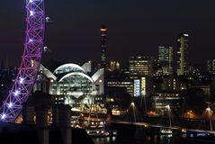London skyline at night Stock Image