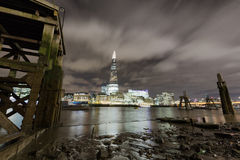 London Skyline at Night. The London Skyline at Night across the River Thames royalty free stock photography