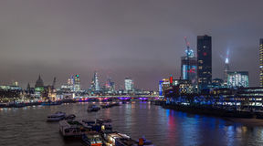 London skyline at night royalty free stock photography