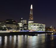 London skyline by night Royalty Free Stock Photo