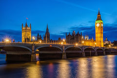 London skyline at night Royalty Free Stock Photography