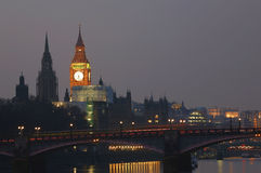 London Skyline, Night Royalty Free Stock Images