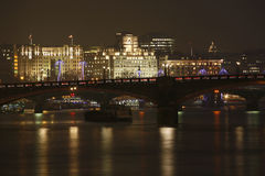 London Skyline, Night Royalty Free Stock Photos