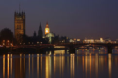 London Skyline, Night Royalty Free Stock Image