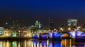 London skyline at night Royalty Free Stock Image