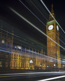 London Skyline at Night. The London Skyline at Night. Looking across Westminster Bridge at Big Ben and the houses of parliament royalty free stock images