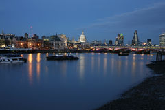 London skyline, night scene Royalty Free Stock Photography