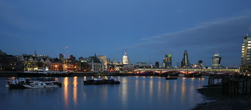 London skyline, night scene Stock Image