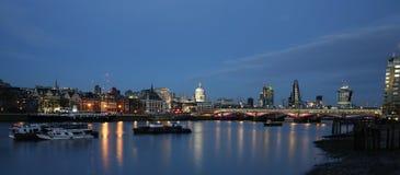 London skyline, night scene Stock Image