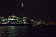 London Skyline at night Royalty Free Stock Images