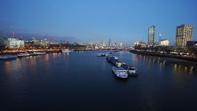 London skyline, night view Royalty Free Stock Images