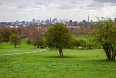 London, skyline panorama from Primrose Hill Stock Photos