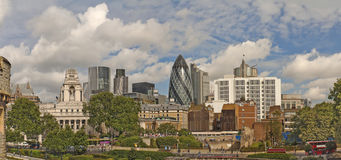 London skyline. Panoramic view of modern buildings from London Tower Stock Photography