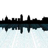 London skyline with perspective Royalty Free Stock Image