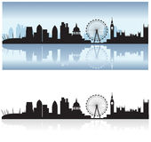 london skyline and reflection royalty free illustration