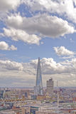 London skyline. The rise of modern architecture and the shard taken from tower bridge, london, england Royalty Free Stock Image