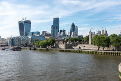 London skyline by the River Thames Stock Images