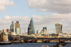 London skyline. London's ever changing skyline from waterloo bridge Royalty Free Stock Photos