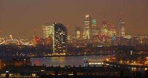 London Skyline seen from Greenwich Park Stock Image
