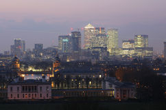 London Skyline seen from Greenwich Park Royalty Free Stock Photos