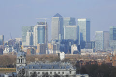 London Skyline seen from Greenwich Park Stock Images