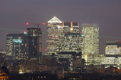 London Skyline seen from Greenwich Park Royalty Free Stock Photography