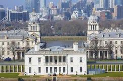London Skyline seen from Greenwich Park Stock Image