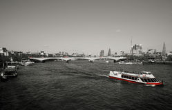 London skyline, seen from Hungerford Bridge Royalty Free Stock Image