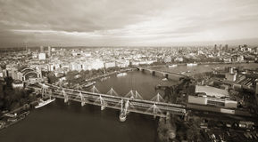 London skyline seen from London Eye Royalty Free Stock Photos