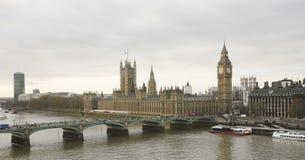 London skyline seen from London Eye Stock Photography