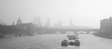 London skyline seen from Waterloo Bridge Stock Image