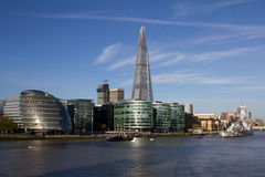 London skyline with the Shard building and Thames Royalty Free Stock Photos