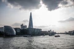 London Skyline the shard skyscraper near river 2 Royalty Free Stock Photos