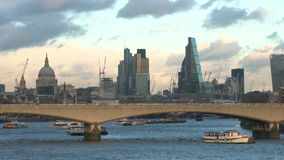 London skyline with The Shard, St Pauls, Southwark, London stock video