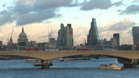 London skyline with The Shard, St Pauls, Southwark, London stock video footage