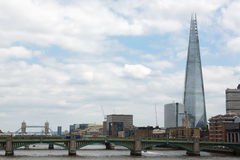 London skyline with the Shard tower Royalty Free Stock Photo
