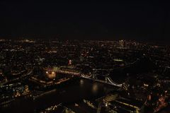 London Skyline from The Shard stock photos