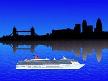 London skyline with ship Stock Image