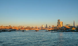 London skyline shot in the late winter& x27;s afernoon. Stock Photo